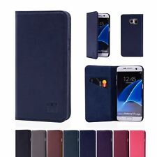 32nd Classic Series - Real Leather Book Wallet Case For Samsung Galaxy S7 Edge
