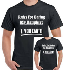 No Se Puede ! Rules For Dating My Daugther Hijas Hombres Camiseta Divertida