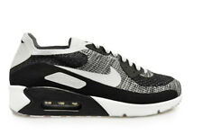 Mens Nike Air Max 90 Ultra 2.0 Flyknit  - 875943-005- Black Wolf Grey Trainers
