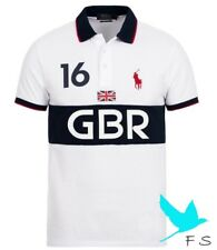100% Authentic POLO RALPH LAUREN Custom Fit BP GBR Polo shirt Homme Men – BLA...
