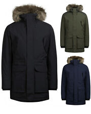 Jack & Jones Herren Winter Jacke S M L XL XXL Parka Mantel Wasserdicht schwarz
