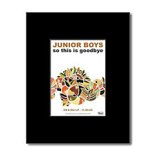 JUNIOR BOYS - So This Is Goodbye Mini Poster