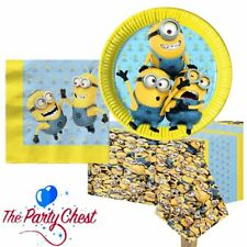 DESPICABLE ME MINIONS DISPOSABLE PARTY TABLEWARE Napkins Plates Table Cover