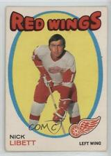 1971-72 O-Pee-Chee #140 Nick Libett Detroit Red Wings Hockey Card