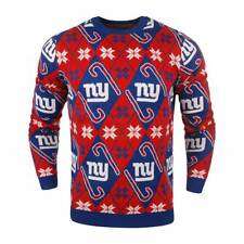 Forever Cellectibles New York Giants CANDY CANE Crewneck NFL Ugly Sweater