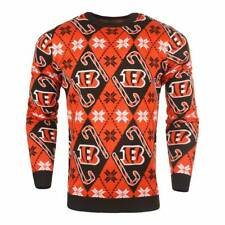 Forever Cellectibles Cincinnati Bengals CANDY CANE NFL Ugly Sweater