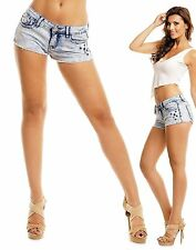hot pants da donna jeans corti a vita bassa jeanspants usato-optik Pantaloncini