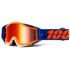 100% Prozent Racecraft MX Motocross Brille ENTDROSSELT klar/rot orange NEU
