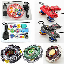 Children Beyblade 4D Metal Master Fusion Top Rapidity Fight Launcher Grip Set