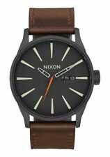OROLOGIO UOMO NIXON SENTRY LEATHER WATCH PELLE OROLOGI A105-2736