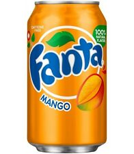 Original Pack of 12 Fanta Mango 355ml Cans Flavor American Soft Fizzy Drink Soda