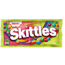 Original Skittles Sweet & Sour Chocolate American Candy Sweet Flavor USA Import