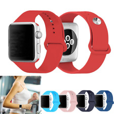 Replacement Silicone Band for Apple iWatch Wrist Bracelet Sports Strap 38mm 42mm