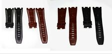 28mm Back Leather Strap Band With White Stich For AP-Audemars Piguet 42mm Watch