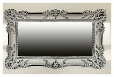 Espejo de Pared Blanco Negro 96x57 antigua Barroco Shabby Chic