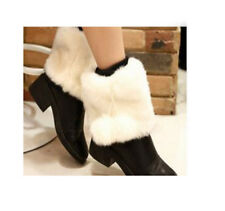 Women Ladies Winter Boot Cuffs Fur Pom-Poms Toppers  Ankle Warmer High Quality