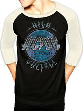 AC/DC 'High Voltage 1975 Tour' Vintage Style Raglan T-Shirt