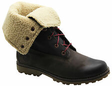 Timberland Authentic 6 Inch Shearling Juniors Boots Kids Roll Down 6298R T1