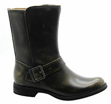 Timberland AF Savin Hill Mid Side Zip Womens Boots Distressed Black A1239 D7