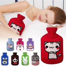 Cute Animal 2L Washable Hot Water Bottles Knitted Covers Cosy Warm keep Bag New