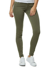 NEU CUP OF JOE HOSE DAMEN JEANS GINA COLORED SKINNY PUSH UP OLIV-KHAKI WOMEN