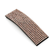 Ladies Girls Diamante Rectangle Hair Snap Clip Accessory Grip Silver Pink Gold