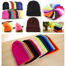 Soft Beanie Knit Ski Cap Hip-Hop Blank Color Winter Warm Unisex Wool Hat
