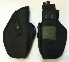 BRITISH ARMY SURPLUS HOLSTER RIGHT HANDED BLACK,MOD POLICE,PLCE COMPATIBLE,MAG