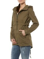 neusuperdry Chaqueta Parka De Mujer g50003to Classic ROOKIE FISHTAIL Oliva Caqui