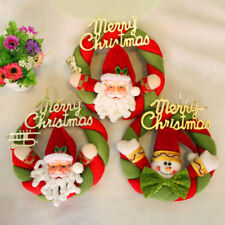 Christmas Santa Claus Snowman Door Hanging Wall Garland Wreath Xmas House Decor