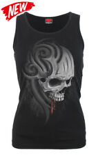 Spiral Direct DEATH ROAR Razor Back Vest Top/Skull/Goth/Biker/Ladies/Metal/Top