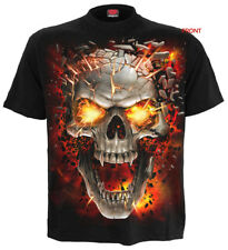 SPIRAL DIRECT SKULL BLAST T-Shirt/Tattoo/Skull/Goth/Flames/Metal/Reaper/New/Top