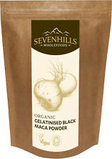 Sevenhills Wholefoods Organic Black Gelatinised Maca Powder | Energy, Fertility