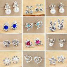 Elegant Women's Fashion  Brand Rhinestone Alloy crystal Studs Earrings Jewelry