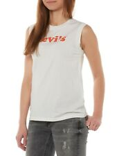 NUEVO levi's Top Mujer Camiseta sin mangas O-cuello 29669 On Tour Tanque Cooper