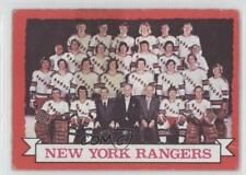 1973-74 O-Pee-Chee #102 New York Rangers Team Hockey Card