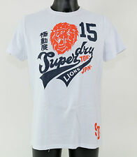 Superdry Camiseta - ms1fa566s 01c - 'Jungla Entry Lions' Tee - Optic - Blanco +