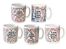 Dialect Funny Ceramic Coffee Mugs Devon Geordie Yorkshire Scouse Scottish