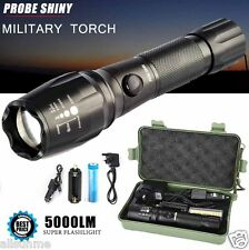 SUPER BRILLANTE 5000LM CREE T6 Torcia a LED Zoom Regolabile Militare Set lampada