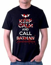 t-shirt keep calm and call batman joker  maglietta by tshirteria d209