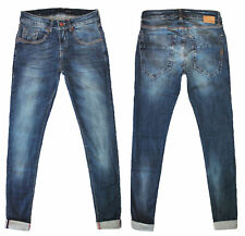 Klixs Jeans Uomo Made In Italy Vita Bassa Denim Comfort Slim Fit Taglia 42 44