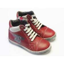 Boys Red Leather High Top Boots   Lea Lelo 14001LD-17
