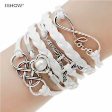 fashion jewelry double leather multilayer bracelet