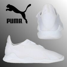 PUMA Evolution Mostro Mens Boys Triple White Sneakers Retro Sports Trainers