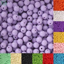 8mm 100pcs Acrylic Beads Smooth Round Loose Spacer Beads For Jewelry Making