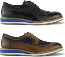 Front BERKELEY Mens Stylish Real Suede/Leather Smart Casual Lace Up Brogue Shoes