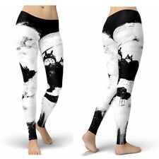 UK TOTORO LEGGINGS Studio Ghibli My Neighbour Japanese Anime Gift Idea Yoga Pant