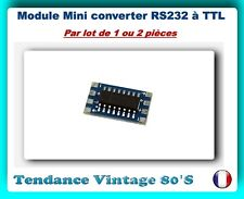 *** LOT DE 1 OU 2 MODULES MINI CONVERTER RS232 A TTL / MAX3232 / ARDUINO ***