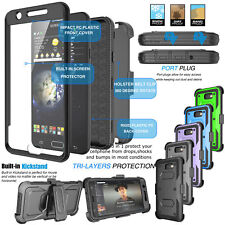 Clip Holster Armor Phone Cover Case with Built-in Screen Protector for