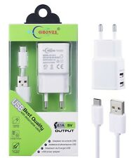 Adaptador Cargador Pared Casa 1.3/2.1A/USB+Cable Micro USB Móvil/Tablet/SAMSUNG